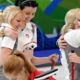Danmarks curlingkvinder sikrede OL-billetten med en sejr over Italien søndag. Scanpix/Saeed Khan