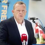 Statsminister Lars Løkke Rasmussen holder grundlovstale i Lejre på restaurant Herthadalen 5.juni 2016.