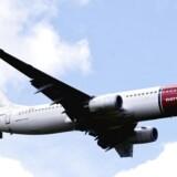 Arkivfoto. Norwegian havde en passagervækst på 16 pct. i november, hvor i alt knap 2,3 mio. passagerer satte sig til rette i det norske lavprisselskabs fly.