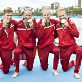 Guldfireren under OL vinder sølv. Kasper Winther Jørgensen, Morten Jørgensen, Jacob Barsøe, Jacob Larsen (Foto: Jens Nørgaard Larsen/Scanpix 2016)