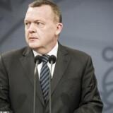 Lars Løkke Rasmussen under pressemøde i anledningen af de Konservatives udmelding om mistillid til til miljø- og fødevareminister Eva Kjær Hansen.