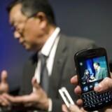 Blackberrys topchef, John Chen, har ikke afvist at ville producere Android-telefoner, men det skal først være, når Android er gjort sikkert nok. Arkivfoto: Mark Blinch, Reuters/Scanpix