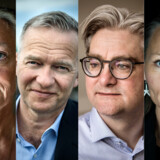 Her er fire af de personer, som der blev læst allermest om på Berlingske i 2018. Fra venstre: Ilse Jacobsen, Lars Tvede, Søren Pind, Sussi La Cour.