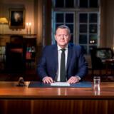 Statsminister Lars Løkke Rasmussen holder nytårstale i Statsministeriet i København, tirsdag den 1. januar 2019.