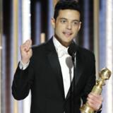 Rami Malek løb med prisen for bedste skuespiller for sin præstation i Bohemian Rhapsody ved nattens uddeling af Globen Globe Awards. Handout/Reuters