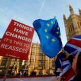 Det snævre engelske nej til EU i juni 2016 skyldes mange ting, bl.a. de velbjergede eliters ligegladhed med fattige og underprivilegerede, tilstrømningen af arbejdskraft udefra og opsparet vrede mod den politiske klasse. Arkivfoto: Tolga Akmen/AFP/Ritzau Scanpix
