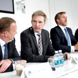 De politiske ledere i blå blok – Lars Løkke (V), Kristian Thulesen Dahl (DF), Anders Samuelsen (LA) og Søren Pape Poulsen (K) – har på kryds og tværs haft mange uenigheder siden valget i 2015. Kigger man på de økonomiske resultater, ender regeringen langt fra egne mål.