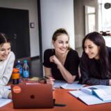 Fanny Sivertsen, Julie Bødker Matschafskø og Becca Reyes er studerende på kandidatuddannelsen visuel kultur på Københavns Universitet.