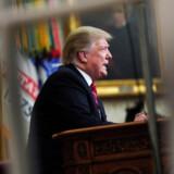 USA's præsident, Donald Trump, holdt natten til onsdag en tv-transmiterret tale til nationen, hvor han kritiserede Demokraterne for at spænde ben for hans primære valgløfte: grænsemuren mod Mexico. Joshua Roberts/Reuters