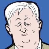 Hans Hauge. Tegning: Claus Bigum