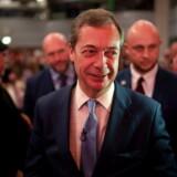 Nigel Farage fra UKIP, der var en af de varmeste fortalere for Brexit, kan gøre krav på over 172.000 euro fra EU-systemet, når Storbritannien forlader EU, fordi han har været medlem af Europa-Parlamentet siden 1999. Arkivfoto: Will Oliver/EPA/Ritzau Scanpix