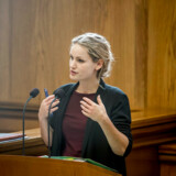 Pernille Skipper (EL) er glad for, at forhandlinger om salg af elnettet Radius ifølge finansminister Kristian Jensen (V) er brudt sammen.