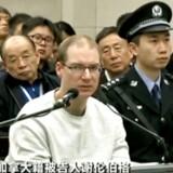 Skærmbillede fra kinesisk TV viser canadieren Robert Lloyd Schellenberg i retten. Han blev dømt til døden for narkotikasmugling efter en retssag, som kun varede en enkelt dag.