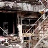 Et foto taget fra en video offentliggjort af Hawar News Agency (ANHA), viser restauranten, hvor de amerikanske soldater blev angrebet af en selvmordsbomber. IS har påtaget sig ansvaret. Foto: AFP