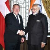 Ti års diplomatisk krise mellem Danmark og Indien er ved at være ovre. Dette er et foto af Lars Løkke og Narendra Modi.