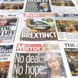 De britiske medier har været på overarbejde i denne uge, og flere spekulerer nu i, at der måske kan komme en ny folkeafstemning. Foto: Daniel Sorabji/AFP/Ritzau Scanpix