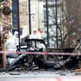 En bilbombe eksploderede i Londonderry i Nordirland lørdag aften.