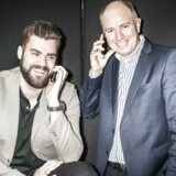 For tre år siden startede Morten Strunge (til venstre) og Peter Mægbæk (til højre) sammen mobilselskabet Plenti, som TDC købte halvandet år senere. Nu er Peter Mægbæk tilbage i telebranchen i spidsen for et nyt bredbåndsselskab, som skal skabe konkurrence på danskernes internetforbindelser. Arkivfoto: Asger Ladefoged