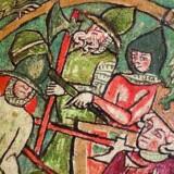 Færingesagaen er sagafortællinger skrevet på Island om Færøernes tidlige vikingehistorie. Store dele af Færingesagaen er taget fra Flatøbogen, der er en af de vigtigste islandske manuskripter om nordisk middelalder. Bogen fortæller dramatisk om konger og stormænd, men også om almindelige mennesker.Illustration fra bogen.