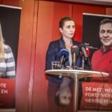 Socialdemokratiets formand Mette Frederiksen præsenterer udspillet »De mest nedslidte fortjener også en værdig pension« på et pressemøde på Plejecenter Sølund i København, 22. januar 2019. Når mænd nu lever kortere end kvinder, skal de så også have en lavere pensionsalder?
