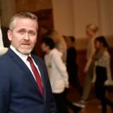 Udenrigsminister Anders Samuelsen er kaldt i samråd om at give forskere tilladelse til at citere fortrolige oplysninger. Christiansborg fredag den 25. januar 2019.. (Foto: Nils Meilvang/Ritzau Scanpix)