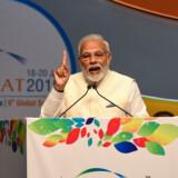 Indiens premierminister, Narendra Modi, har den hidtil laveste opbakning forud for et snarligt valg. Det viser en meningsmåling i India Today få måneder før et valg i verdens største demokrati. (Arkivfoto). Sam Panthaky/Ritzau Scanpix