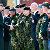 På billedet ses den danske militærtjeneste.