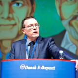 Kenneth Kristensen Berth, som her taler ved Dansk Folkepartis årsmøde september 2018, tror ikke længere på, at der skal udskrives en hurtig dansk folkeafstemning om EU-medlemskab.