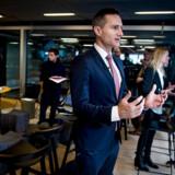 Regeringens Vækstteam for kreative erhverv overleverer deres anbefalinger til erhvervsminister Rasmus Jarlov og kulturminister Mette Bock i BLOXHUB i København mandag den 29. oktober 2018. (Foto: Liselotte Sabroe/Ritzau Scanpix)