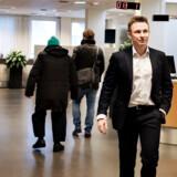 Nordea-chef Mads Skovlund har det overordnede ansvar for Nordeas privatkunder i Danmark. Her mødes han med ansatte i Nordeas Roskilde afdeling.