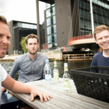 Fra venstre: Kasper Eich-Romme, Carl Kai Rand og Anders Ekelund Mørck står bag det succesfulde og bæredygtige bådudlejningskoncept GoBoat i København.