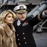 Den amerikanske ambassadør i Danmark, Carla Sands, besøgte fredag krigsskibet USS Porter i København. Her påpegede hun nogle mangler ved det danske forsvar.