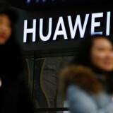 Foto af en Huawei butik i Beijing.