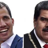 Venezuelas oppositionsleder, formand for Nationalforsamlingen Juan Guaidó (t.v.), har udfordret præsident Nicolás Maduro og hans såkaldt bolivariske revolution.