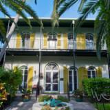 Hemingways hus på Key West, der stadig står stort set uberørt, og hvor der i dag er museum.