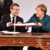 Der var store smil, da Frankrigs præsident, Emmanuel Macron, og Tysklands kansler, Angela Merkel, for få uger siden underskrev en ny venskabsaftale i Aachen. Nu er de to lande tilsyneladende dybt uenige om den store russiske gasledning, Nordstream 2.