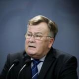 Forsvarsminister Claus Hjort Frederiksen lader sig ikke umiddelbart anfægte af kritik af overvågning. Arkivfoto: Liselotte Sabroe