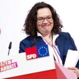 SPDs formand, Andrea Nahles, har længe været under massiv beskydning – fra utilfredse medlemmer og tidligere formænd. Nu forsøger hun at genvinde støtten ved at lancere en ny socialreform. Forude venter Europa-Parlamentsvalget og fire delstatsvalg.