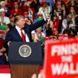 Præsident Donald Trump taler under et vælgermøde i El Paso i Texas, USA 11. februar 2019.