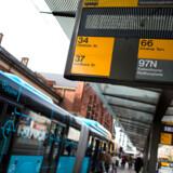 Busser, taxaer og el-biler i København, tirsdag den 9. oktober 2018.. (Foto: Liselotte Sabroe/Ritzau Scanpix)