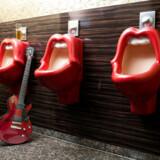 De offentlige toiletter på 25hours Hotel The Goldman i Frankfurt er en hyldest til The Rolling Stones.
