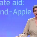 EUs konkurrencekommissær Margrethe Vestager har torsdag fået underkendt sin beslutning om at pålægge 35 multinationale selskaber at betale ekstraskat i Belgien. Tidligere har Apple skulle lægge 100 milliarder kroner i ubetalt skat i Irland. Arkivfoto: Emmanuel Dunand, AFP/Ritzau Scanpix