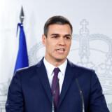 Foto af Spaniens premierminister Pedro Sanchez.