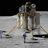 Senest i 2024 skal der være udviklet et nyt månelandingsfartøj, der kan komme til at se sådan ud. Ifølge NASAs planer skal der atter landsættes astronauter på Månen i 2028.