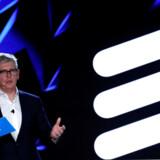 Arkivfoto: CEO i Ericsson, Börje Ekholm på konference i Barcelona. Han er bekymret for, at Europa kommer for langt bagud på 5G-udvikling efter Huawei-skandalen.