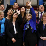 Her er de 11 medlemmer af det nye fænomen i britisk politik, The Independent Group: Sarah Wollaston, Heidi Allen, Anna Soubry, Joan Ryan, Angela Smith, Luciana Berger, Ann Coffey, Chris Leslie, Havin Shuker, Chuka Umunna og Mike Gapes.