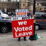 Britiske tilhængere og modstandere af EU har kastet sig ud i et nyt højspændt Brexit-slagsmål. Det er mere end to år efter Brexit-afstemningen, men i det politiske kaos er intet endnu afgjort.