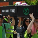 Spørgsmålet om klimaforandringer vækker også stærke følelser i USA. Her en demonstration i Los Angeles den 26. januar 2019.
