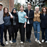 Aveny-T på Frederiksberg er håndplukket i kulturministerens nye udspil til et ekstra tilskud på tre mio. kroner årligt - pengene skal styrke teatrets indsats for unge. Her de medvirkende i forestillingen »SKAM«.