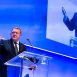 Statsminister Lars Løkke Rasmussen til Venstres EU-landsmøde 2. marts 2019. Her foreslog han at stoppe »ræset mod bunden« på selskabsskatteområdet – men siden hvornår er lavere skat blevet et problem?